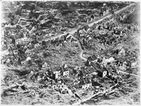 Aerial view of ruins of Vaux-devant-Damloup, France, 1918