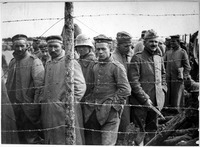 German prisoners in a French prison camp during the later part of the war