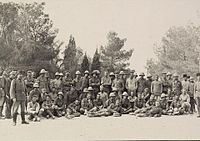 British prisoners guarded by Ottoman forces after the First Battle of Gaza in 1917