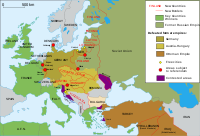 Map of territorial changes in Europe after World WarI (as of 1923)