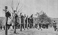 Austro-Hungarian soldiers executing men and women in Serbia, 1916