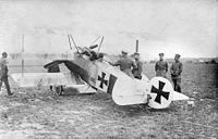 Luftstreitkräfte Fokker Dr.I being inspected by Manfred von Richthofen, also known as the Red Baron, one of most famous pilots in the war.