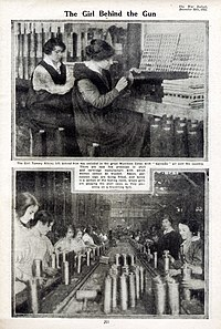 Poster showing women workers, 1915