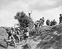 16th Bn (Canadian Scottish), advancing during the Battle of the Canal du Nord, 1918