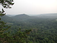 The Driftless Area as viewed from Wildcat Mountain State Park in Vernon County, Wisconsin