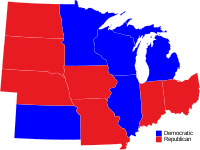 Midwestern Governors by party
