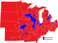 Midwestern U.S. Representatives by party for the 117th Congress