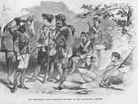 """""""The Secessionist Army-Irregular Riflemen of the Alleghanies, Virginia"""", Harper's Weekly, July 20, 1861"""