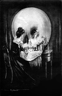 """""""All Is Vanity"""" by C. Allan Gilbert, evoking the inevitable decay of life and beauty toward death"""