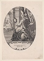 Allegory of pride, from circa 1590–1630, engraving, 22.3 cm x 16.6 cm, in the Metropolitan Museum of Art (New York City)