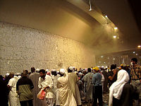 Pilgrims performing Stoning of the devil ceremony at 2006 Hajj