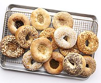 Bagels, made from yeasted wheat dough, originated in Poland.