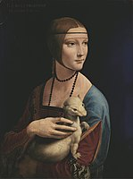 Lady with an Ermine (1490) by Leonardo da Vinci. Though not Polish in its origin, the painting symbolizes Poland's cultural heritage and is among the country's most precious treasures.
