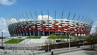 The National Stadium in Warsaw, home of the national football team, and one of the host stadiums of Euro 2012
