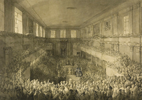 Constitution of 3 May, enactment ceremony inside the Senate Chamber at the Warsaw Royal Castle, 1791