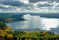 The Masurian Lake District, located in the Masuria region of Poland, contains more than 2,000 lakes.