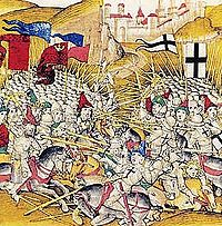The Battle of Grunwald was fought against the German Order of Teutonic Knights, and resulted in a decisive victory for the Kingdom of Poland, 15 July 1410.