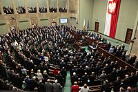 The Sejm is the lower house of the Polish parliament.