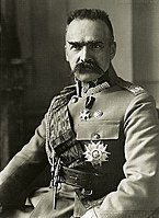 Chief of State Marshal Józef Piłsudski was a hero of the Polish independence campaign and the nation's premiere statesman between 1918 until his death on 12 May 1935.