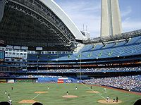 The Toronto Blue Jays host the Detroit Tigers at the Rogers Centre on April 21, 2008.