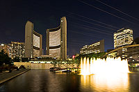 Toronto City Hall acts as the seat of the City of Toronto government.