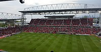 BMO Field is an outdoor stadium that is home to the CFL's Toronto Argonauts and MLS's Toronto FC.