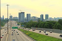 Highway 401 is a 400-series highway that passes west to east through Greater Toronto. Toronto's portion of Highway 401 is the busiest highway in North America.