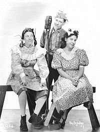 The Canovas as they appeared on The Chase and Sanborn Hour in 1938 from left: Judy, Zeke, and Annie