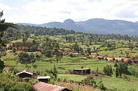 Agricultural countryside in Kenya