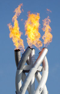 Close-up of the Olympic Flame during the 2006 Winter Olympics in Turin