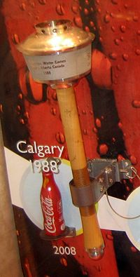 The Olympic Torch from the 1988 Winter Olympic Games in Calgary