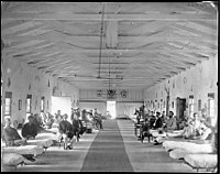 Patients in Ward K at the Armory Square General Hospital