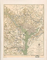 The enormous complex of defenses that protected Washington, D.C., in 1865.