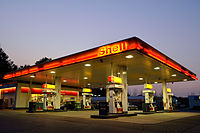 Shell gasoline station in Canada