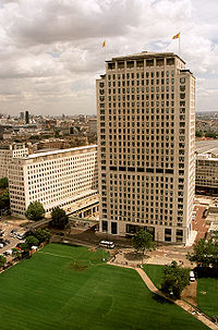 Shell Centre building in London, UK