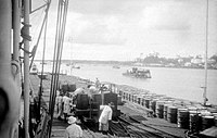 Royal Dutch Petroleum dock in the Dutch East Indies (now Indonesia)