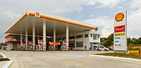 A Shell gasoline station in Sabah, Malaysia