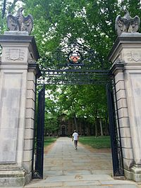 FitzRandolph Gates, which by tradition undergraduates do not exit until graduation