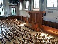 McCosh 50, the largest lecture hall on campus