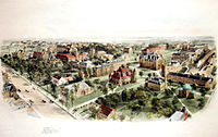A Birds-eye view of campus in 1906