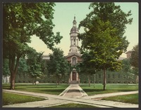 Nassau Hall (1756) in a 1903 photo, the campus's oldest building, original home of the New Jersey Legislature, and capital of the United States in the summer of 1783
