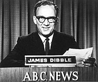 James Dibble, reading the first ABC News television bulletin in NSW, 1956