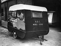 ABC mobile studio caravan, used for concerts presented by the ABC at army camps and other locations, 1940