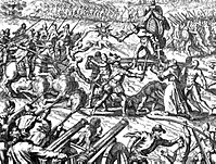 The Inca–Spanish confrontation in the Battle of Cajamarca left thousands of natives dead.