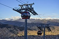 The La Paz cable car system in Bolivia is home to both the longest and highest urban cable car network in the world