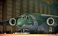 KC-390 is the largest military transport aircraft produced in South America by the Brazilian company Embraer.