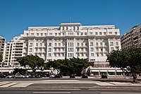 Copacabana Palace, the best hotel in South America, in Rio de Janeiro. Tourism brings important currencies to the continent.