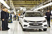 General Motors plant in Rosario. Brazil is among the 10 largest vehicle manufacturers in the world and Argentina among the 30 largest.