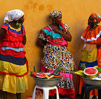 Afro-Colombian fruit sellers in Cartagena.