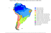 Köppen-Geiger climate classification map for South America